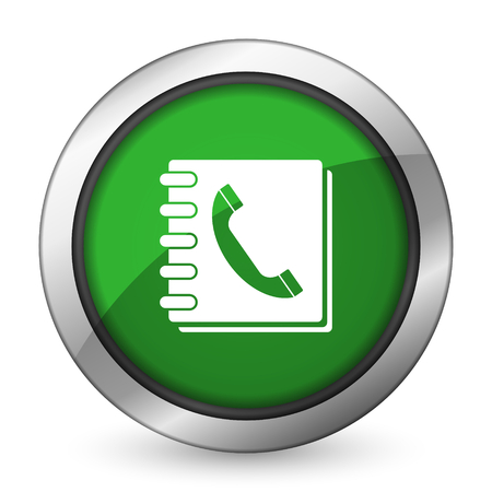phonebook: phonebook green icon Stock Photo