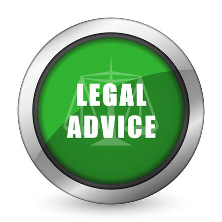 asesoria legal: asesoramiento jur�dico icono verde signo ley