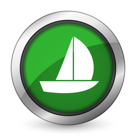 yacht green icon sail sign photo