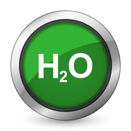 h2o: water green icon h2o sign