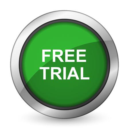 free trial green icon photo
