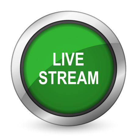 live stream: live stream green icon