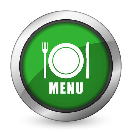 menu green icon restaurant sign photo