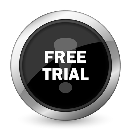 free trial black icon photo