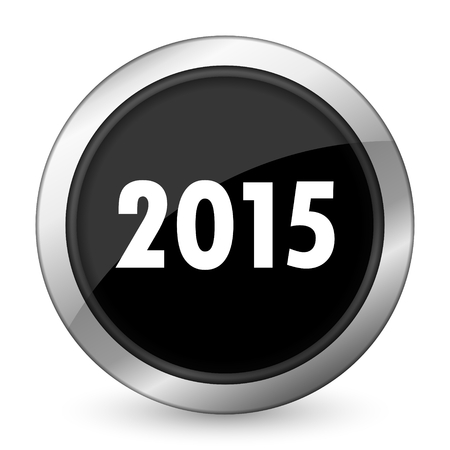 new year 2015 black icon new years symbol photo