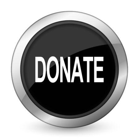 contribute: donate black icon