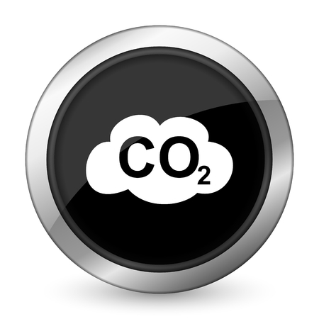 dioxide: carbon dioxide black icon co2 sign