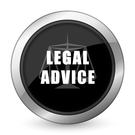 asesoria legal: asesoramiento jur�dico icono negro signo ley