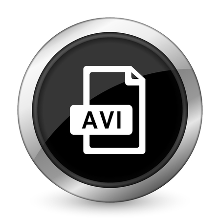 avi: avi file black icon