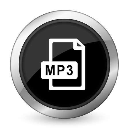 mp3: mp3 file black icon