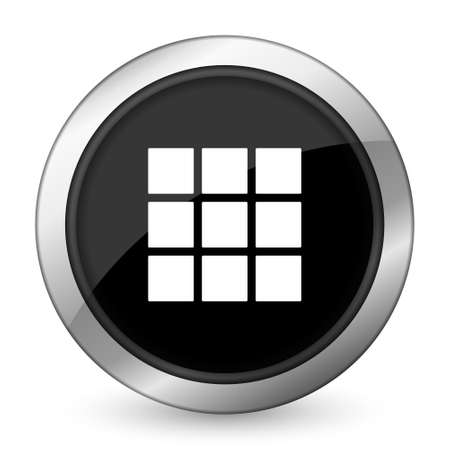 thumbnails: thumbnails grid black icon gallery sign