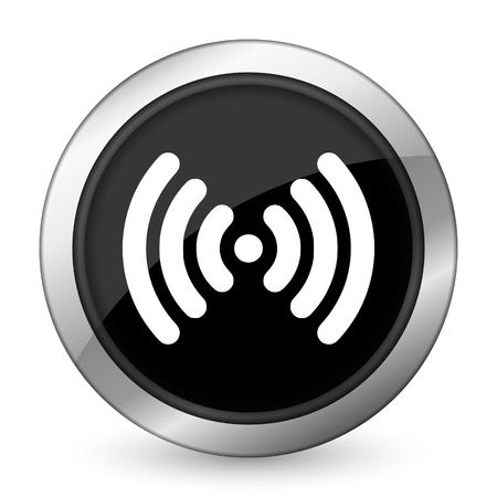 wifi black icon wireless network sign photo