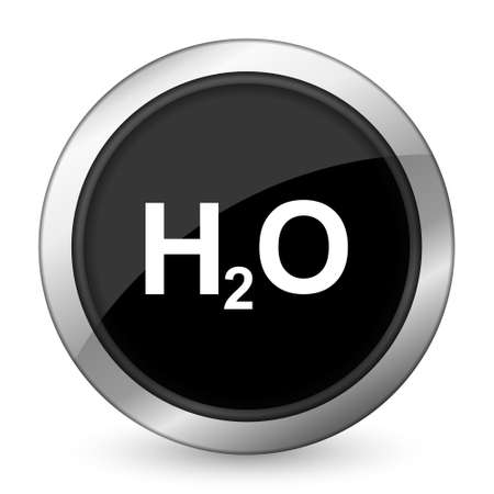 water black: water black icon h2o sign Stock Photo