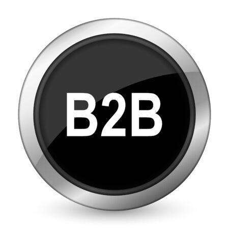 b2b: b2b black icon Foto de archivo