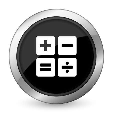 calc: calculator black icon calc sign