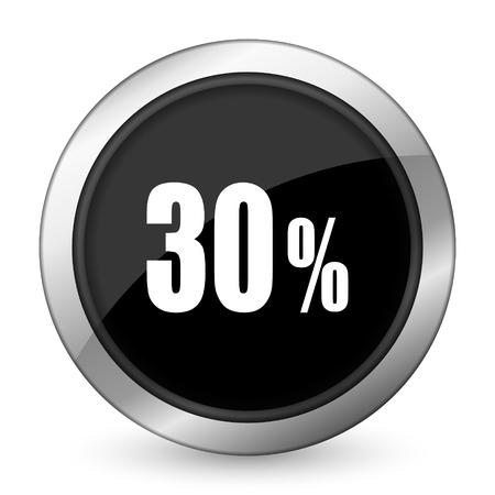 30: 30 percent black icon sale sign
