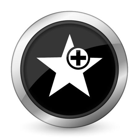 favourite: star black icon add favourite sign