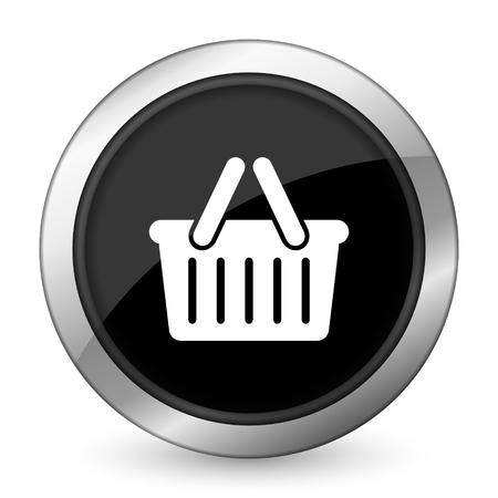 cart black icon shopping cart symbol photo