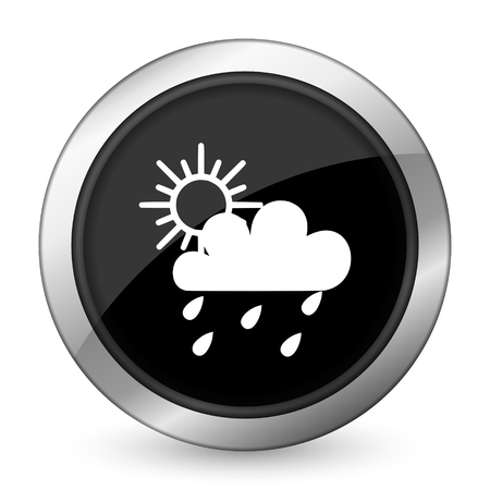rain black icon waether forecast sign photo