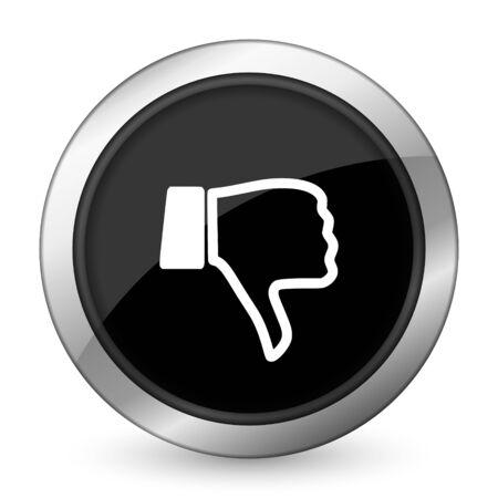pulgar abajo: aversi�n icono del pulgar hacia abajo signo negro Foto de archivo