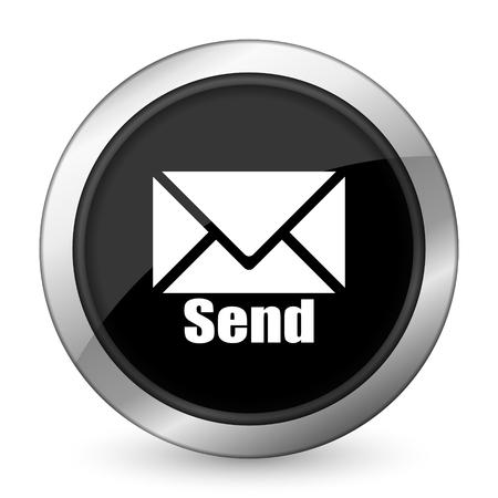 send: send black icon post sign