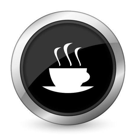 caffee: espresso black icon hot cup of caffee sign Stock Photo