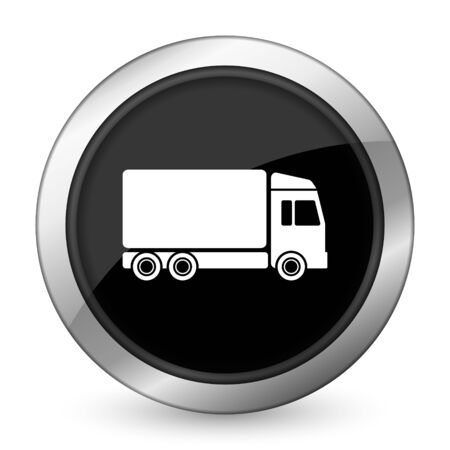 delivery black icon truck sign photo