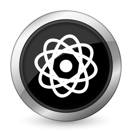 atom black icon photo