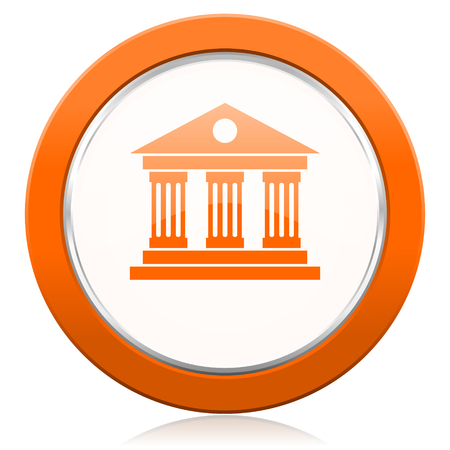 museum orange icon photo