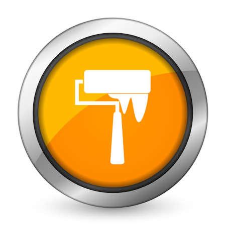 brush orange icon paint sign photo