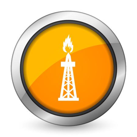 gas orange icon oil sign photo