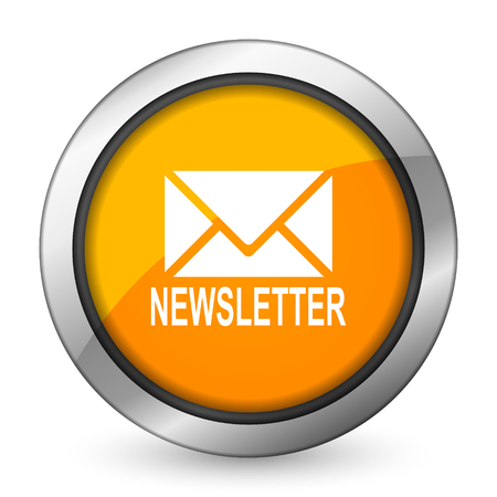 newsletter orange icon photo