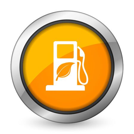 biofuel orange icon bio fuel sign photo