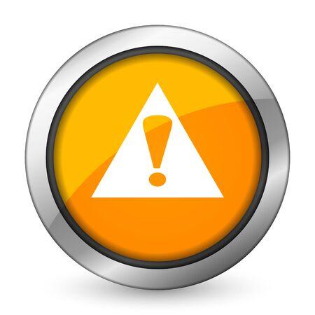 exclamation sign: exclamation sign orange icon warning sign alert symbol Stock Photo