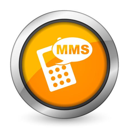 mms icon: mms orange icon phone sign