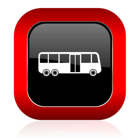 bus icon public transport sign photo