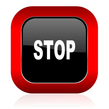 stop icon: stop icon Stock Photo