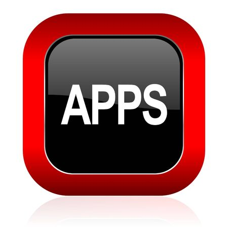 pushbutton: apps icon Stock Photo
