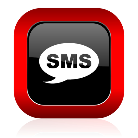 sms icon: sms icon message sign Stock Photo