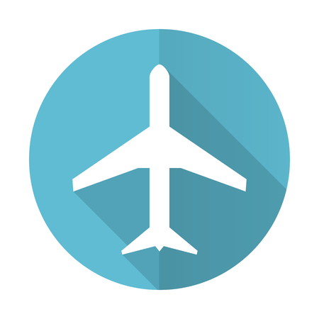 plane blue flat icon airport sign photo