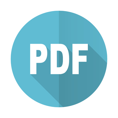 pdf blue flat icon photo