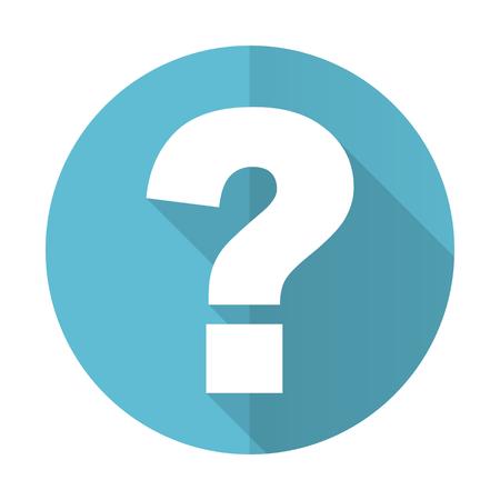 Fragezeichen-Symbol blau Flach fragen Zeichen