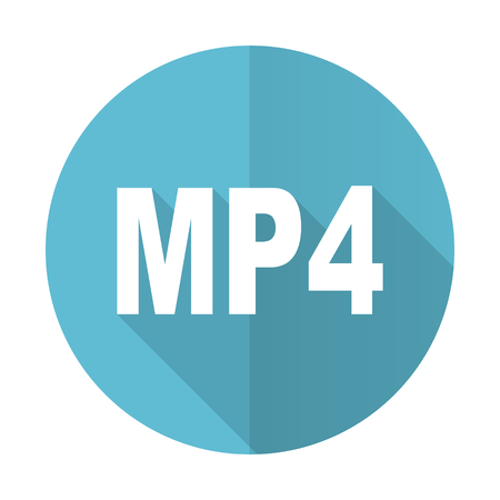 mp4: mp4 blue flat icon