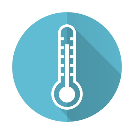 thermometer blue flat icon temperature sign photo