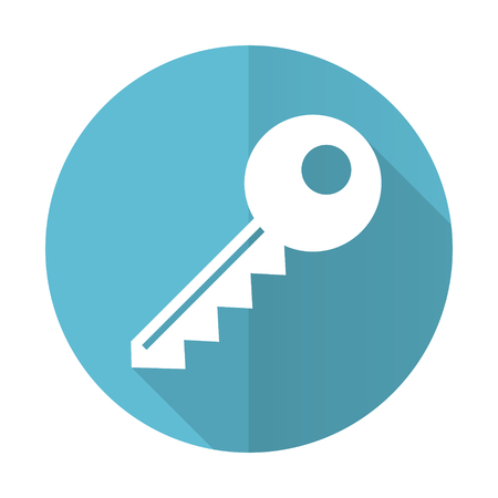 key blue flat icon photo