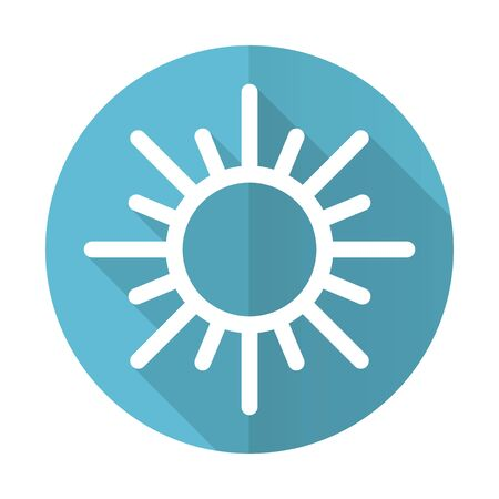 sun blue flat icon waether forecast sign photo