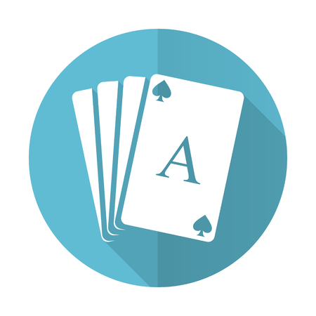 picto: casino blue flat icon hazard sign
