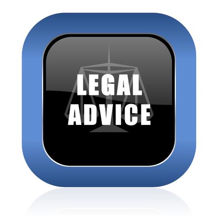 asesoria legal: asesoramiento jur�dico brillante icono cuadrado signo ley