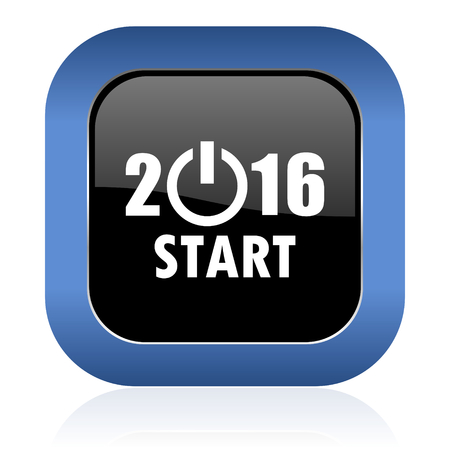 new year 2016 square glossy icon new years symbol photo