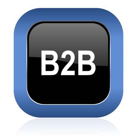b2b: b2b brillante icono cuadrado
